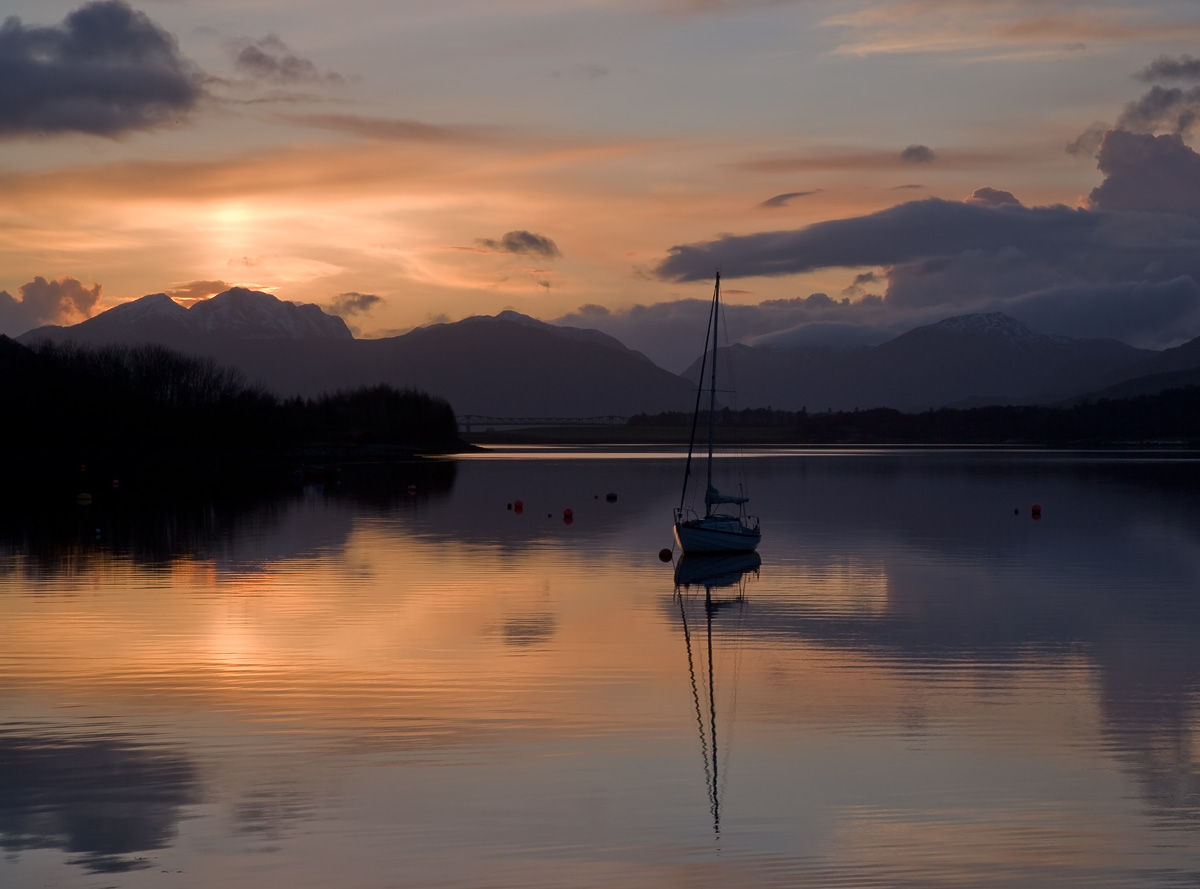 Last Light at Loch Leven