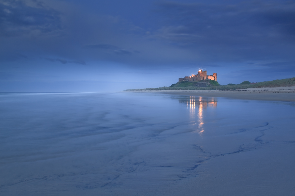 Bamburgh Castle  in Blue